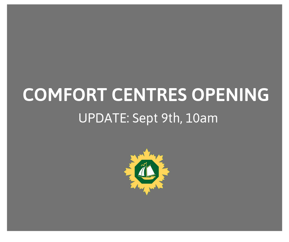 COMFORT CENTRES OPENING AT 12 NOON 2