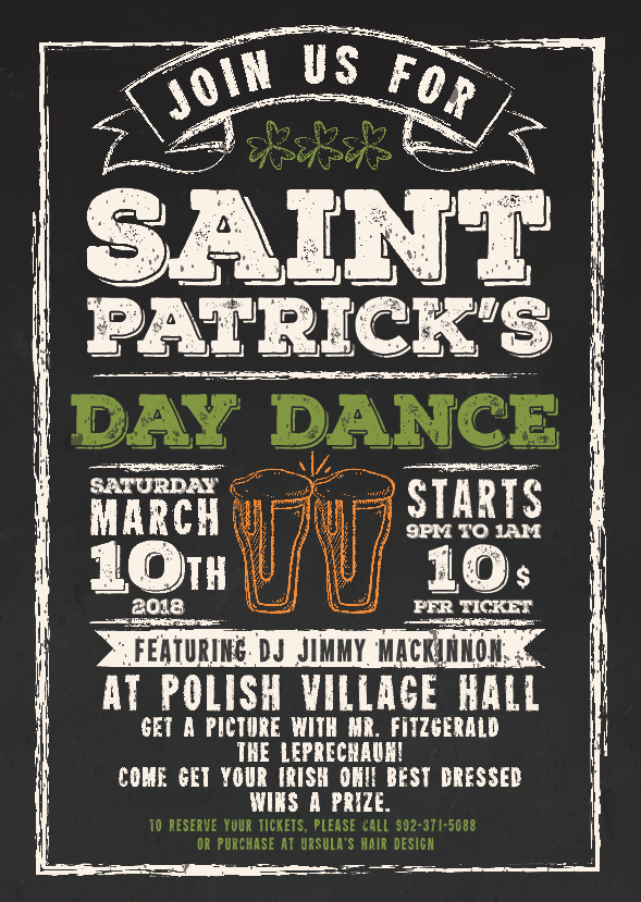 St. Patricks Dance Poster